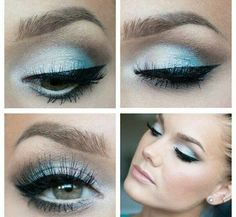 Facebook page : Makeup and beauty / my world - #eyemakeup #makeup #eyeshadow #eyes #blueshadow #skyblue - bellashoot.com