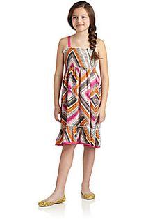 DKNY - Girls Dot Printed Dress