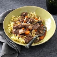 Slow-Simmering Beef Bourguignon Recipe from Taste of Home -- shared by Adele Zuerner of Arden, North Carolina
