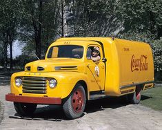 Pictures of Classic Ford Pickup Trucks: 1948 Ford F-1 Truck - Coca Cola Delivery Truck