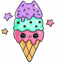 Dolce gelato a Pusheen kawaii Food Kawaii, 365 Kawaii, Arte Do Kawaii, Kawaii Art, Kawaii Room, Kawaii Disney, Anime Kawaii, Cute Disney, Kawaii Girl Drawings