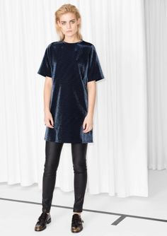& Other Stories | Shiny T-Shirt Dress