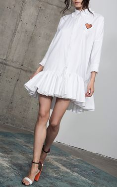 Get inspired and discover Maria Lucia Hohan trunkshow! Shop the latest Maria Lucia Hohan collection at Moda Operandi. I Dress, Dress Outfits, Casual Dresses, Casual Outfits, Fashion Dresses, Shirt Dress, White Fashion, Love Fashion, Fashion Design