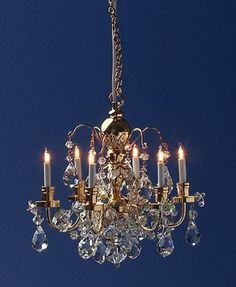 Dolls House Light - Crystal 6-arm Chandelier