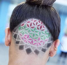 Sacred geometric pattern with colored glitter!