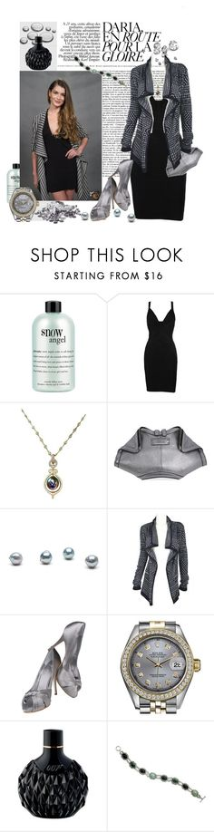 """la gloire"" by sasane ❤ liked on Polyvore featuring philosophy, Alexander McQueen, Giuseppe Zanotti, Rolex, James Bond 007 and NOVICA"