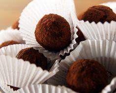Lactose-free chocolate truffles