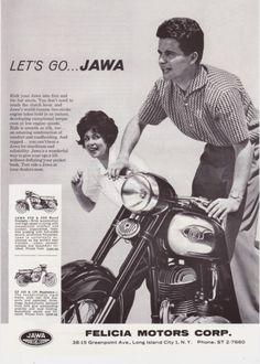 Retro Advertising, Vintage Advertisements, Vintage Ads, Vintage Posters, Jawa 350, Motorcycle Posters, Vintage India, Vintage Romance, Old Bikes