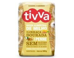 Casa Santa Luzia Alimentos Especiais : Massa de Milho com Linhaça Dourada Tipo Penne sem glúten Tivva - 500g