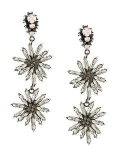 Marni sunflower drop earrings