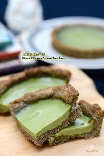 黑芝麻绿茶挞 Black Sesame Green Tea Tart Tart Shells, Black Sesame, Food Pictures, Tarts, Food Photography, Tea, Ethnic Recipes, Green, Mince Pies