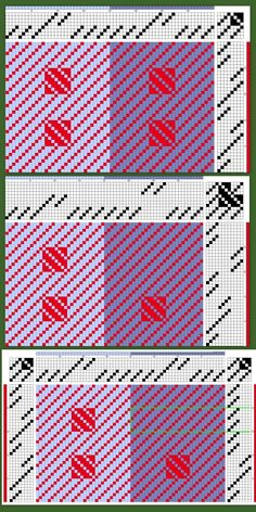 Weber-Treff-NRW – Dorothee Petri – – ed mckee 506 – weberei Weaving Designs, Weaving Patterns, Chart Design, My Design, Loom Weaving, Hand Weaving, Dobby Weave, Swedish Weaving, Pattern Drafting