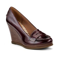 WANT and it comes in my size (11). I have been wanting cordovan shoes. Sperry Top-Sider Women's Windstar Penny Wedge #sperrytopsider