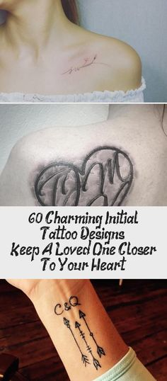 60 Charming Initial Tattoo Designs – Keep A Loved One Closer To Your Heart - Tattoo Tattoo Goo, Tattoo Aftercare, Minimal Tattoo, Roman Numerals, Tattoo Models, Your Heart, Looking For Women, Tattoo Artists, Cool Tattoos