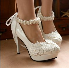 $30.16/Piece:buy wholesale 2016 wedding shoes for bride High Heel Wedding Shoes Lace Pearls 11.5 cm Party Shoes Wedding Shoes bridal shoes from DHgate.com,get worldwide delivery and buyer protection service.