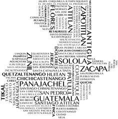 Wes' daughter travelled to Guatemala this summer so continuing with my new found love for word art, I designed this word art map of Guatemala for her for Christmas.