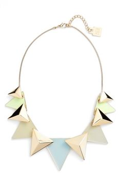 Free shipping and returns on Adia Kibur Layered Triangle Statement Necklace at Nordstrom.com. Shiny triangles and polished pyramids create standout dimension on this daring statement necklace. #jewelry #fashion #design #necklace #statement #style #trends #trending #accessories #womens #ootd #statementnecklace #shopping #nordstrom #ideas #fashionideas #stylist #beauty #image