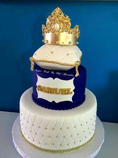 Big Birthday Cake, Boy 16th Birthday, 75th Birthday Parties, Prince Birthday Party, Baby Boy Cakes, Baby Shower Cakes, Baby Boy Shower, Royal Blue Cake, Royal Cakes