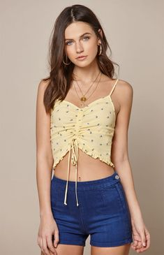 cc18cc1b8e0ac LA Hearts Cinched Front Tank Top at PacSun.com