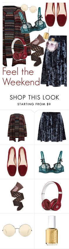 """Taking it easy"" by ivyfanfic ❤ liked on Polyvore featuring Leon & Harper, River Island, Zara, Myla, Wolford, Beats by Dr. Dre, Victoria Beckham, Essie and Vera Wang"