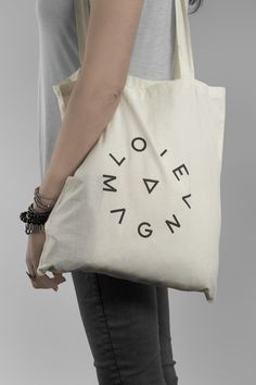 Logo and tote with screen print detail for production studio Love Magna designed by Musa WorkLab
