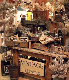 Christmas display @ our shop Timeworn Treasures   Danville PA