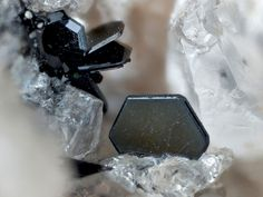 Ilmenite, Phlogopite, Sanidine  In den Dellen quarries, Niedermendig, Mendig, Laach lake volcanic complex, Eifel, Rhineland-Palatinate, Germany