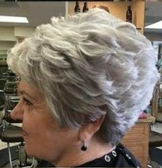 This is just one of maybe 3 wigs I will buy. They are simply gorgeous. Wish I ha… – Hilde - Perm Hair Styles Short Silver Hair, Short White Hair, Short Hair With Layers, Short Stacked Hair, Hair Styles For Women Over 50, Short Hair Cuts For Women, Short Hairstyles For Women, Princess Diana Hair, Short Layered Haircuts
