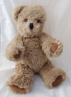 "Scarce Canterbury Plush Teddy Bear 26"" Shaggy Gray Made in England 1984 Artist #CanterburyBears #AllOccasion"