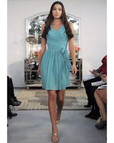 Short Blue Bridesmaid Dress