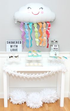 """Shower that momma-to-be with love with this baby """"shower"""" entertaining idea."""