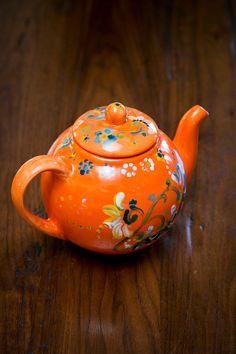 Floral Colorful Unique Handpainted Ceramic Teapot by ZoraidasArt, $42.00