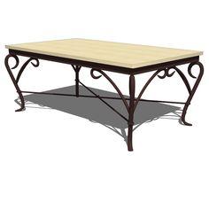 Wrought iron Genesis coffee table by Alexandra Die....
