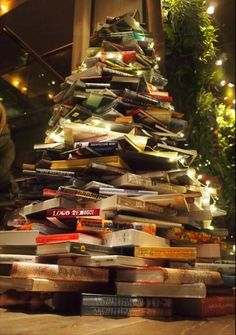 TASCHEN's Christmas book tree - OK not a book shelf, but we love it anyway!