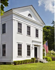 Greek Revival Farmhouse Classy Greek Revival Farmhouse  Square Columns Small Porches And Mudroom 2017