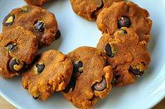 Chocolate Chip Pumpkin Paleo Cookies. Delicious and Warm, spiced, dotted with chocolate chips heaven!
