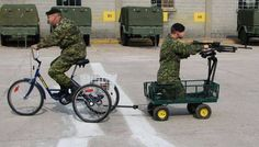 Cutbacks: military assault vehicle with crew-served weapon