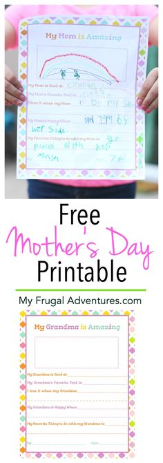 Adorable free printable Mother's Day questionnaire for Mom or for Grandma to celebrate #MothersDayMovie in theaters 4/29. Perfect keepsake gift idea from the kids. #MothersDayFilm #ad