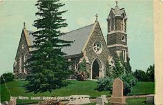 NY Troy New York Oakwood Cemetery Mary Warren Chapel Valentine No 201322 | eBay