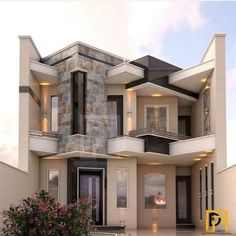 Casas modernas en 2019 house design, bungalow house design y modern Bungalow House Design, House Front Design, Modern House Design, Beautiful Modern Homes, Dream House Interior, Villa Design, Modern House Plans, Facade House, Home Fashion