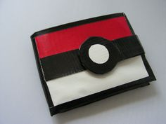 Pokeball Duct Tape Wallet by QuirkyQrafts on Etsy, Fun Crafts For Kids, Craft Activities For Kids, Craft Ideas, Craft Projects, Market Day Ideas, Pokemon Craft, Gifts For Hubby, Duck Tape Crafts, Gifts
