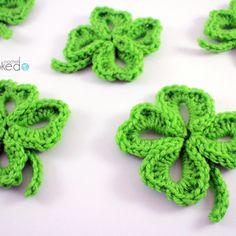 Crochet Four Leaf Clover