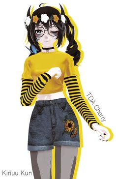 Yandere, Anime Outfits, New Outfits, We Bare Bears Wallpapers, Girl Korea, Modelos 3d, Anime Girl Cute, Model Outfits, Art Reference Poses