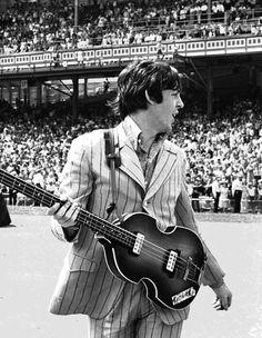 Paul McCartney at Cincinnati, Ohio, 21 August 1966.