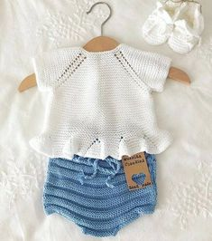 Strikket genser for barn i DROPS Sky. Arbeidet går fra topp til bunn & Knitting For Kids, Baby Knitting Patterns, Crochet For Kids, Baby Patterns, Crochet Baby, Knitted Baby, Crochet Socks Pattern, Romper Pattern, Sewing Dress