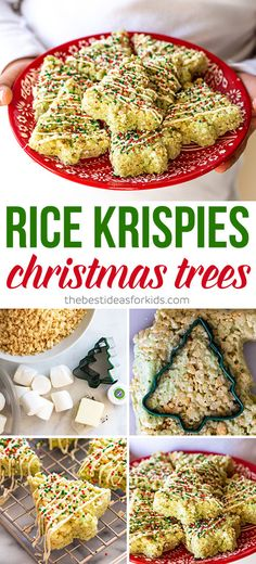 Easy recipe and tutorial for how to make Rice Krispies Christmas Trees. Tips and tricks for getting the softed Christmas Rice Krispies treats! Easy Christmas Treats, Christmas Sweets, Christmas Cooking, Holiday Baking, Christmas Desserts, Holiday Treats, Holiday Recipes, Christmas Recipes, Christmas Parties