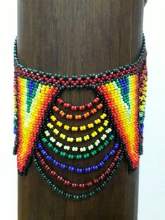 Colombian Culture, Handmade Necklaces, Geometric Shapes, Glass Beads, Artisan, Beaded Necklace, Chokers, Etsy, Purple