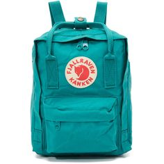 Fjallraven Kanken Mini Backpack (4.580 RUB) ❤ liked on Polyvore featuring bags, backpacks, ocean green, green backpack, miniature backpack, mini rucksack, day pack backpack and green bags