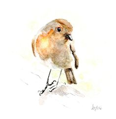 Christmas Robin - A6 cards artwork by Ally Tate  £1.25