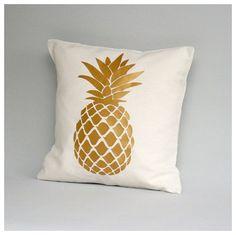 Gold pineapple cushion